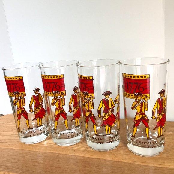 VTG Bicentennial Glasses Fife & Drum 1776 Lot 4
